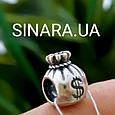 Серебряный подвес шарм Pandora Мешочек денег, фото 4