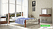 Металлическая кровать Франческа на деревянных ножках ТМ «Металл-Дизайн», фото 2