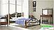 Металлическая кровать Франческа на деревянных ножках ТМ «Металл-Дизайн», фото 4