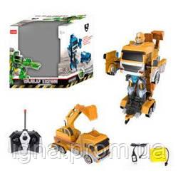 Трансформер AT188MY (6шт) р/у,аккум,робот+стройтехника,35см, зв,муз,св,едет,USDзар,в кор,38-42-32см