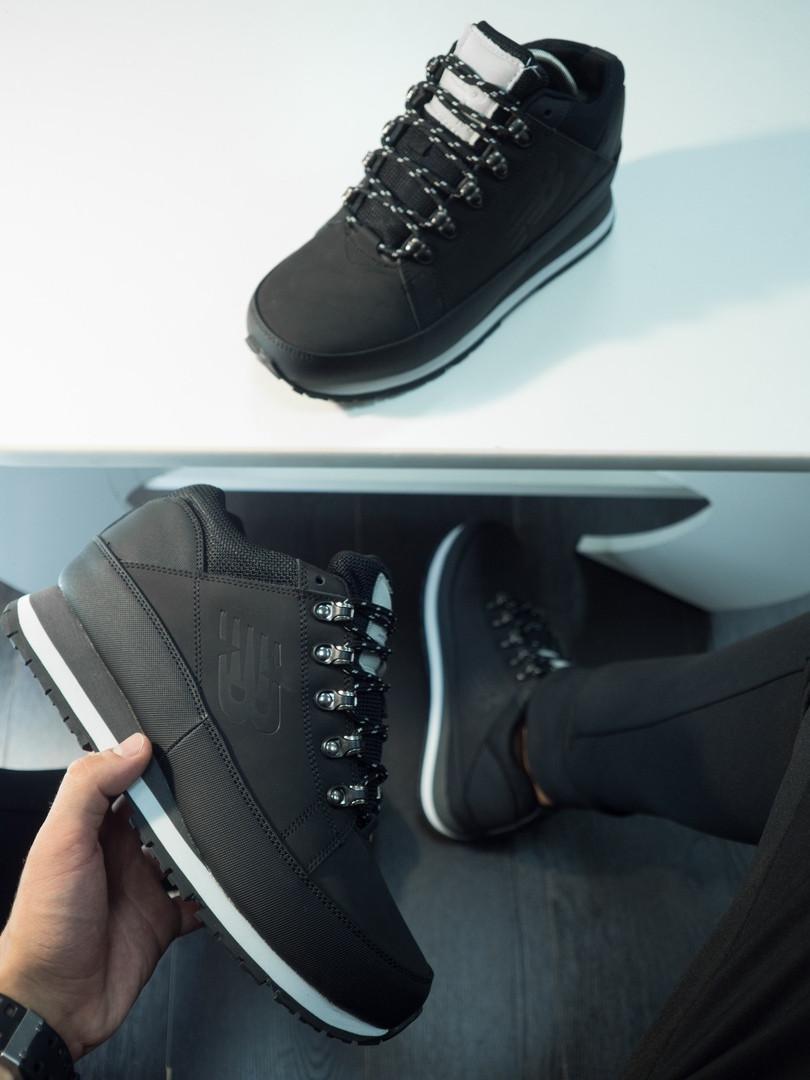 Мужские черные зимние New balance 754 (black), черные ботинки