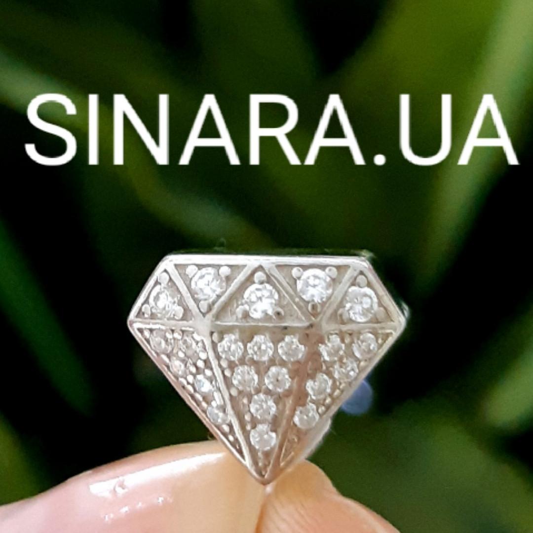 Бриллиант шарм Пандора серебро 925 - Бусина Пандора Бриллиантик