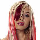 Насищённо бордовые волосы на заколках, фото 3
