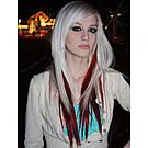 Насищённо бордовые волосы на заколках, фото 4