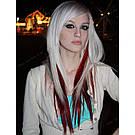 Волосы накладные на заколке, бургунд, фото 3