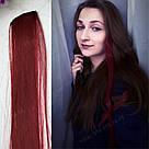 Кольорові пряді кольору бордо, бургундія, фото 6
