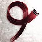 Кольорові пряді кольору бордо, бургундія, фото 9