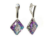 Серебряные серьги Swarovski Growing Crystal 6926 Crystal Vitral Light