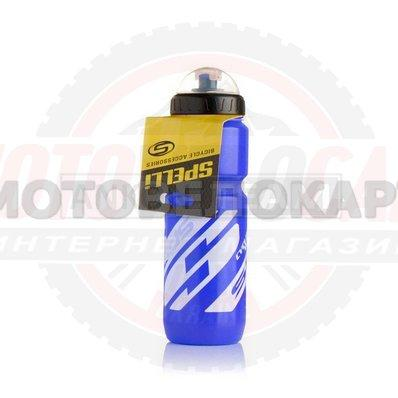 "Бутылка для воды велосипедная  (#SWB-528, синяя, 800ml)  ""SPELLI"""