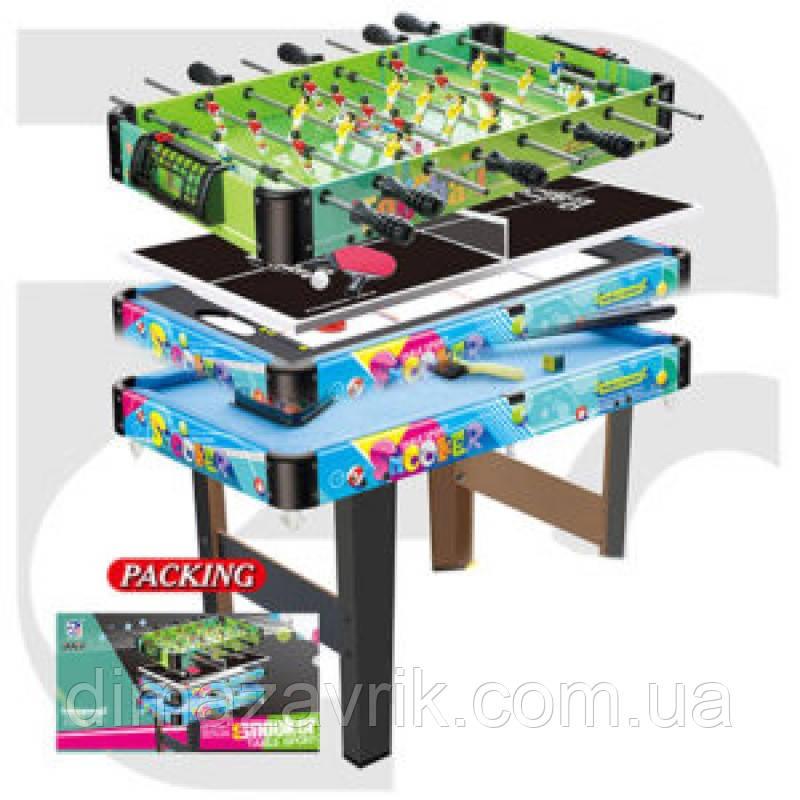 Игровой стол 4в1 деревянный 76-41 см