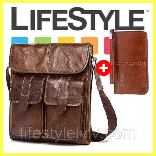 87c289104803 Мужская сумка WESTAL! Натуральная кожа! + Кошелек в подарок: продажа ...