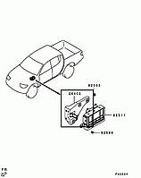 Кронштейн крепления блока управления АКПП Mitsubishi L200, 2005-2014 г.в. MN110904