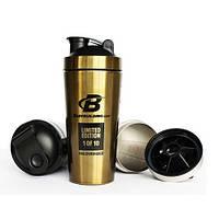 Шейкер Bodybuilding Shaker Gold Steel 750 ml