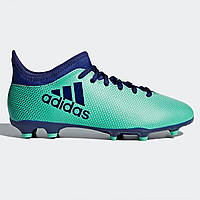 Бутсы Adidas X 17.3 Junior FG Football Boots AeroGreen Ink - Оригинал 57a165fe84ac0
