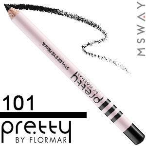 FlorMar PRETTY - Карандаш для глаз Тон 101 black, черный матовый, фото 2