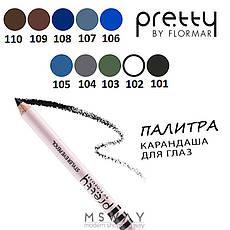 FlorMar PRETTY - Карандаш для глаз Тон 101 black, черный матовый, фото 3