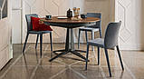 Круглый раскладной стол LINK 120/180 см с керамической столешницей фабрики MIDJ (Италия), фото 2