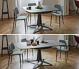 Круглый раскладной стол LINK 120/180 см с керамической столешницей фабрики MIDJ (Италия), фото 9