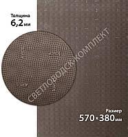 Резина набоечная FAVOR - VOLNA, р. 570*380*6.2 мм, цв. коричневый