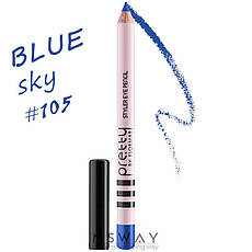 FlorMar PRETTY - Карандаш для глаз Тон 105 sky blue, насыщенный синий перламутр, фото 2