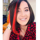 Пряди на клипсах как у Ольги Бузовой - яркие красные, фото 4