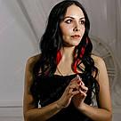 Красные цветные пряди на заколках как у Валерии Лукьяновой, фото 7