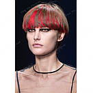 Красные цветные пряди на заколках как у Валерии Лукьяновой, фото 6