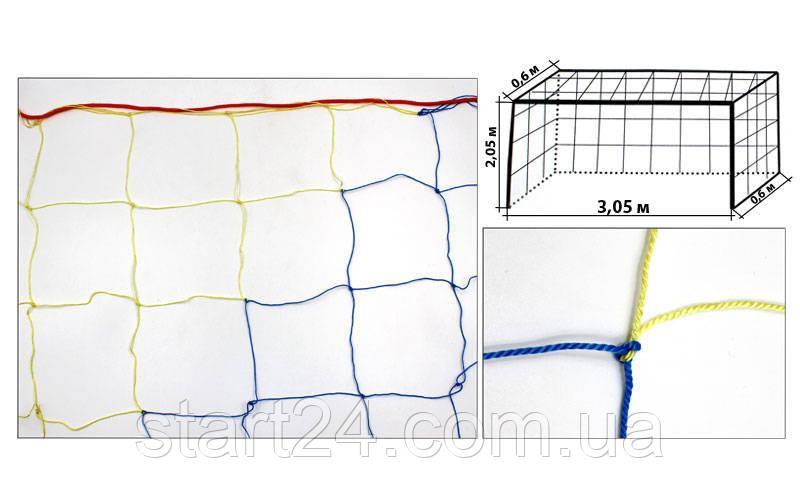 Сетка на ворота футзальные, гандбольные любительская (2шт) Капрон UR SO-5284 (капрон 1,2мм, яч.12см)*