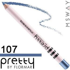 FlorMar PRETTY - Карандаш для глаз Тон 107 queen blue, морской синий матовый