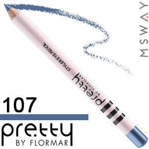FlorMar PRETTY - Карандаш для глаз Тон 107 queen blue, морской синий матовый, фото 2