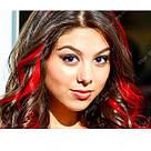 Цветные пряди термо, можно завивать, ярко красного цвета, фото 5
