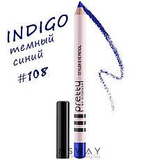 FlorMar PRETTY - Карандаш для глаз Тон 108 indigo, темный синий матовый, фото 2