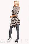 Женский бежево-черный кардиган с завязками, фото 3