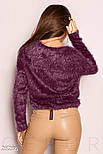 Мягкий джемпер фиолетового цвета, фото 3