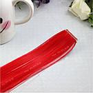 Пряди цветных искусственных волос на заколке, красные, фото 3