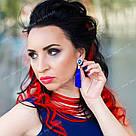 Пряди цветных искусственных волос на заколке, красные, фото 4