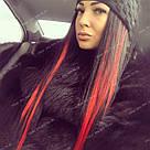 Цветные пряди на заколках для наращивания волос в домашних условиях, красные, фото 5