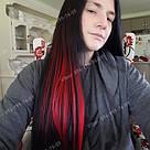 ❤️ Цветные красные пряди волос на заколке как у Настасьи Самбурской с Универа ❤️, фото 5
