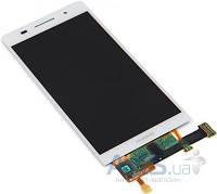 Дисплей (экран) для телефона Huawei Ascend P6-U06 + Touchscreen Original White