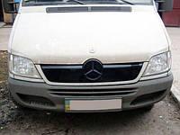 Зимняя накладка на решетку Mercedes Sprinter W901 2002-2006 глянцевая DD