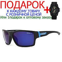 Защитные спортивные велосипедные очки от солнца Kdeam 717  Черный, синий