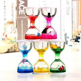 Акриловые песочные часы с плавающим животным для украшения / подарка 1шт - Цветной