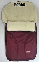 Спальный детский конвертик Snowflake на овчине Womar № 25 (zafiro) бордовый