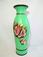 Керамическая напольная ваза «Эллада» с росписью акрил цветы