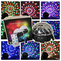 Светодиодный диско-шар LED Magic Ball Bluetooth MP3, фото 1