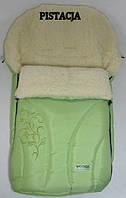 Спальный детский конвертик Snowflake на овчине Womar № 25 (zafiro) салатовый