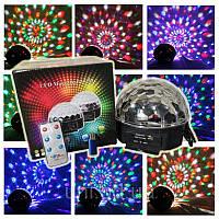 Светодиолный диско шар, светомузка, Magic Ball Music Super Light с mp3