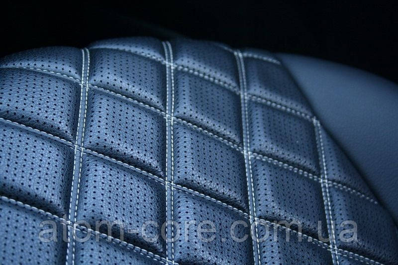 Чехлы на сиденья Митсубиси Лансер 10 (Mitsubishi Lancer 10) (модельные, 3D-ромб, отдельный подголовник)