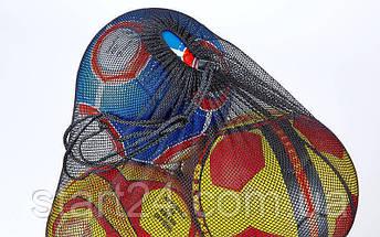 Сетка-сумка для мячей FB-5577 (полиэстер сетка, на 12 мячей, р-р 96х70см, черный), фото 3