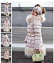 Пальто зимнее на девочку Лин ТМ Nui Very Размеры 116 - 158, фото 9